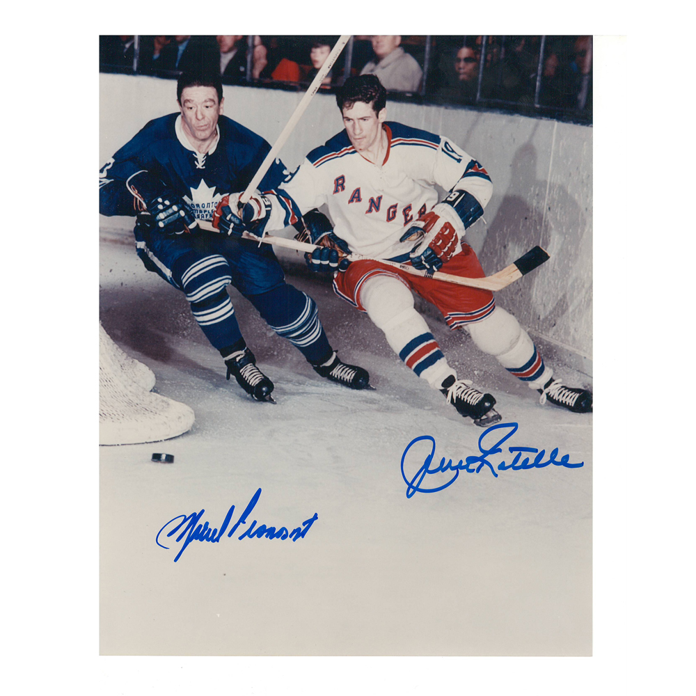 MARCEL PRONOVOST & JEAN RATELLE Signed Vintage 8 X 10 Photo - 70057