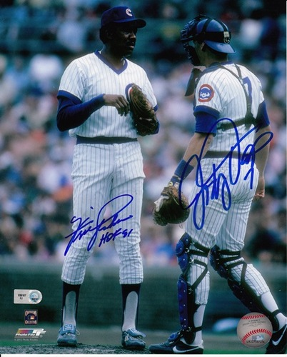 Photo of Fergie Jenkins / Jody Davis Autographed 8x10