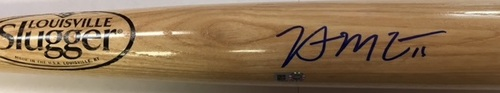 Photo of Brian McCann Autographed Blonde Louisville Slugger Bat