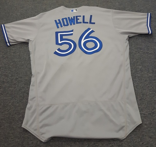 Authenticated Game Used Jersey - #56 J.P. Howell (April 6, 2017). Size 46.