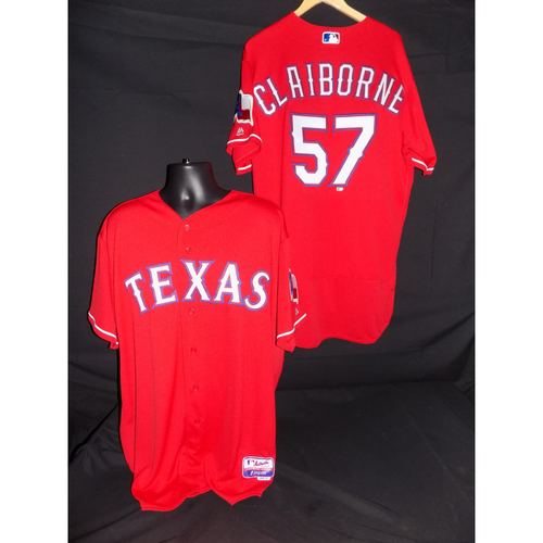 Photo of Preston Claiborne Team-Issued Red Jersey - Size 48