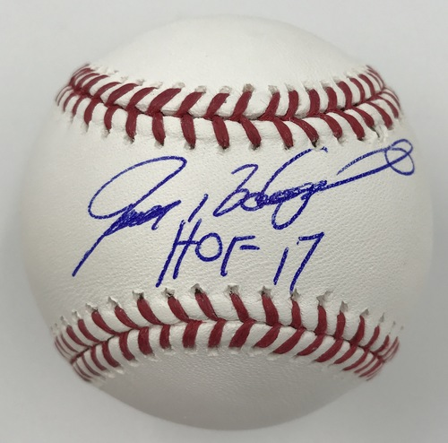 "Photo of Ivan Rodriguez ""HOF 17"" Autographed Baseball"
