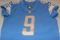CRUCIAL CATCH - LIONS MATTHEW STAFFORD GAME WORN LIONS JERSEY (OCTOBER 8TH, 2017) SIZE 44