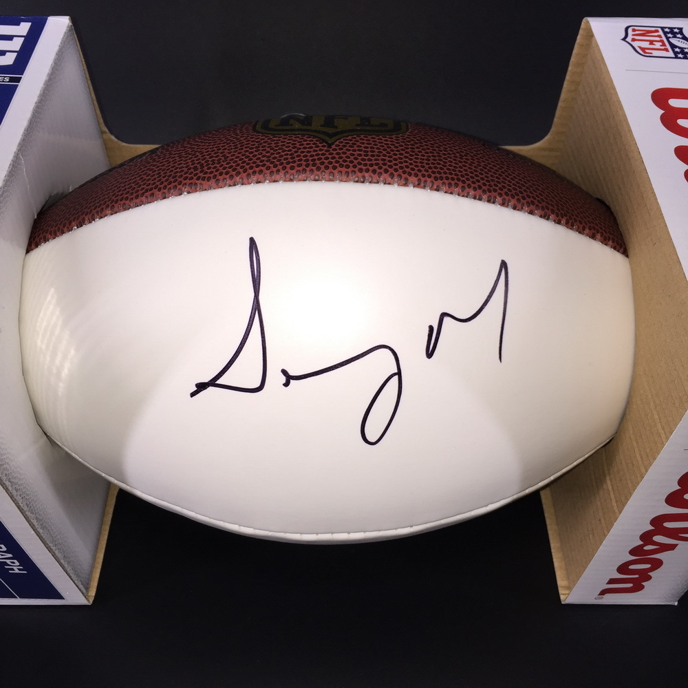 NFL - PATRIOTS RB SONY MICHEL SIGNED PANEL BALL
