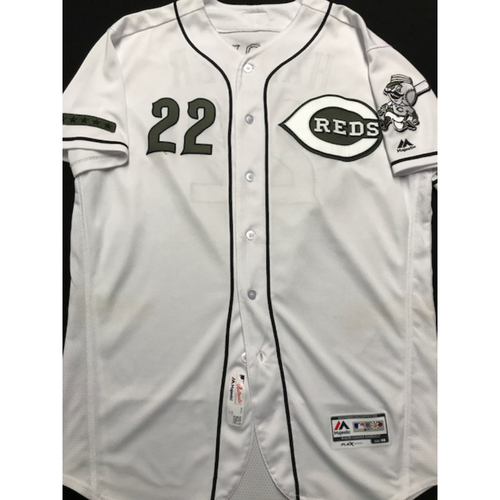 Photo of Billy Hatcher - Game-Used - Military Appreciation Jersey (Worn: 2018)