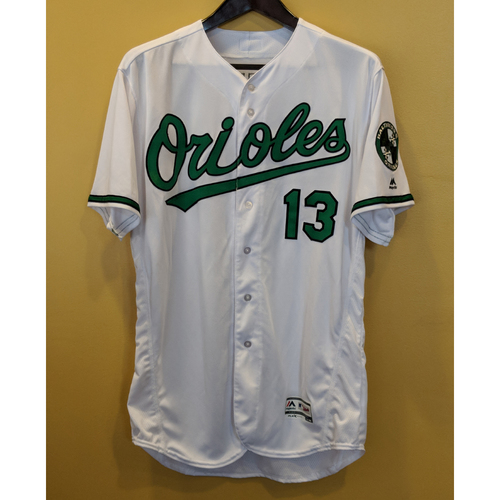 Photo of Manny Machado - Earth Day Jersey & Cap: Game-Used (Worn Innings 7-9) & Autographed