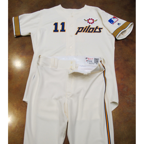Photo of Seattle Mariners Team Issued 1969 Pilots Home Uniform Turn Back The Clock (6/22/19): Edgar Martinez