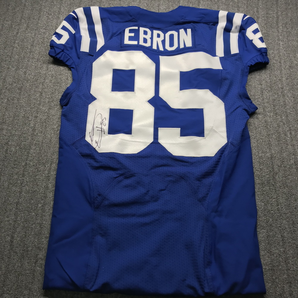 NFL Auction | Crucial Catch - Colts Eric Ebron Signed Game Issued ...