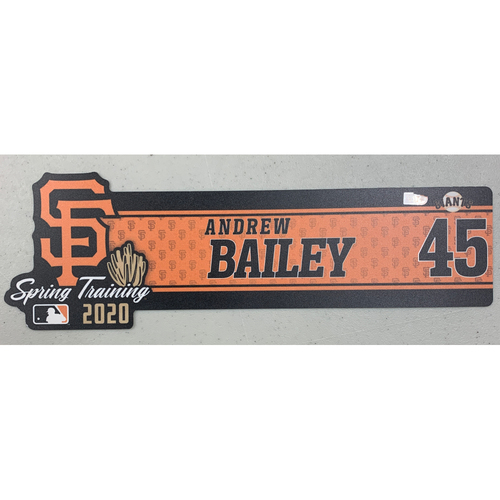 Photo of 2020 Spring Training Locker Tag - #45 Andrew Bailey (Coach)