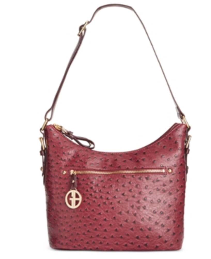 Photo of Giani Bernini Embossed Faux Ostrich Hobo