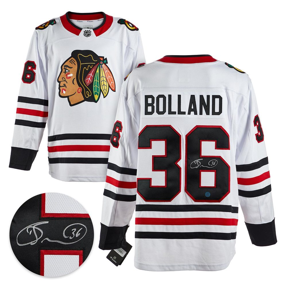 Dave Bolland Chicago Blackhawks Autographed White Fanatics Hockey Jersey