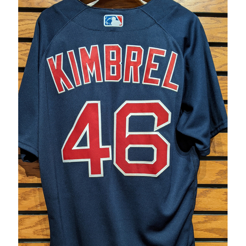 Craig Kimbrel #46 Game Used Navy Road Alternate Jersey