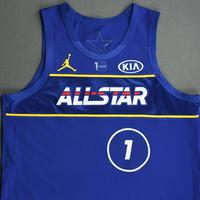 Zion Williamson - Game-Worn 2021 NBA All-Star Jersey - 1st Half - All-Star Game Debut