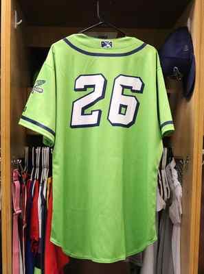 Stockton Ports Chris Smith Asparagus jersey, #26, Size 48