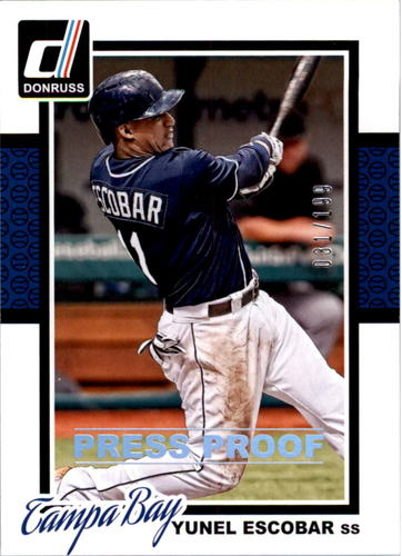 Photo of 2014 Donruss Press Proofs Silver #346 Yunel Escobar