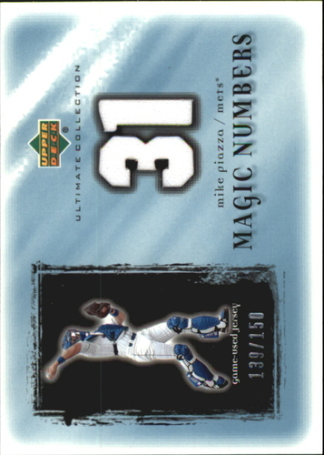Photo of 2001 Ultimate Collection Magic Numbers Game Jersey #MNMP Mike Piazza