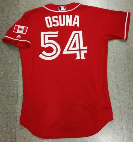 timeless design e72d9 6d239 MLB Auctions | Authenticated Game Used Roberto Osuna Canada ...