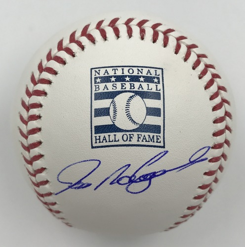 Photo of Ivan Rodriguez Autographed Hall of Fame Logo Baseball