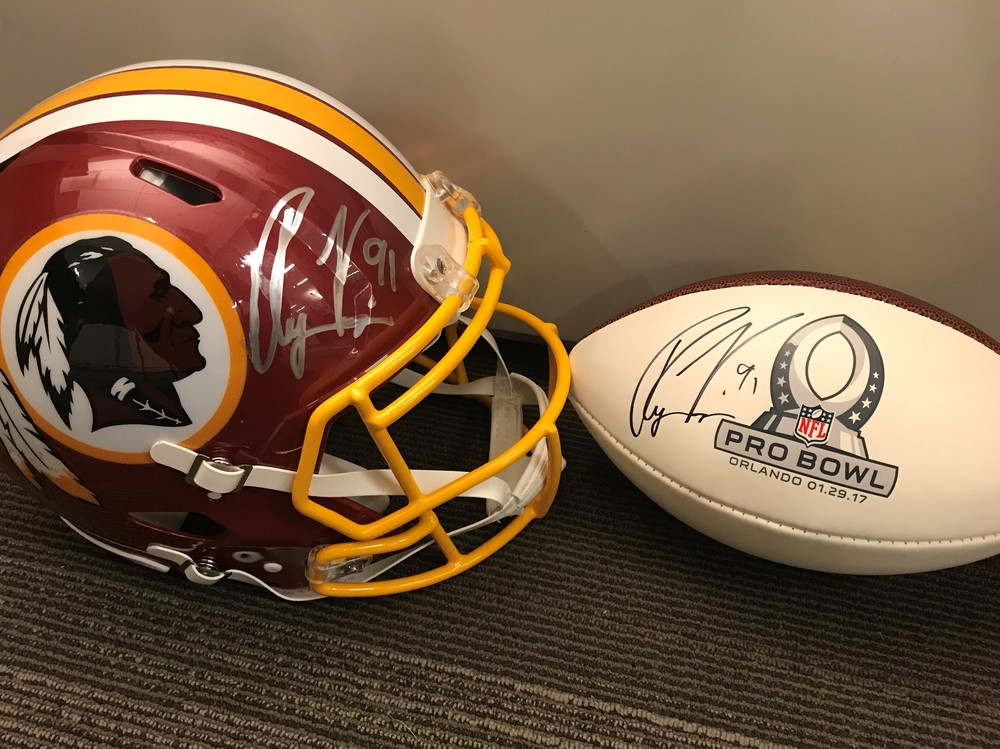 the best attitude 29160 82bbd NFL Auction | PCC - Ryan Kerrigan signed Helmet AND Pro Bowl ...