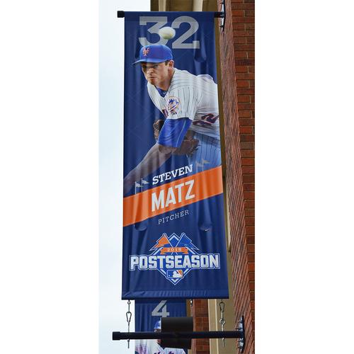 Photo of Steven Matz #32 - Citi Field Banner - 2015 Postseason