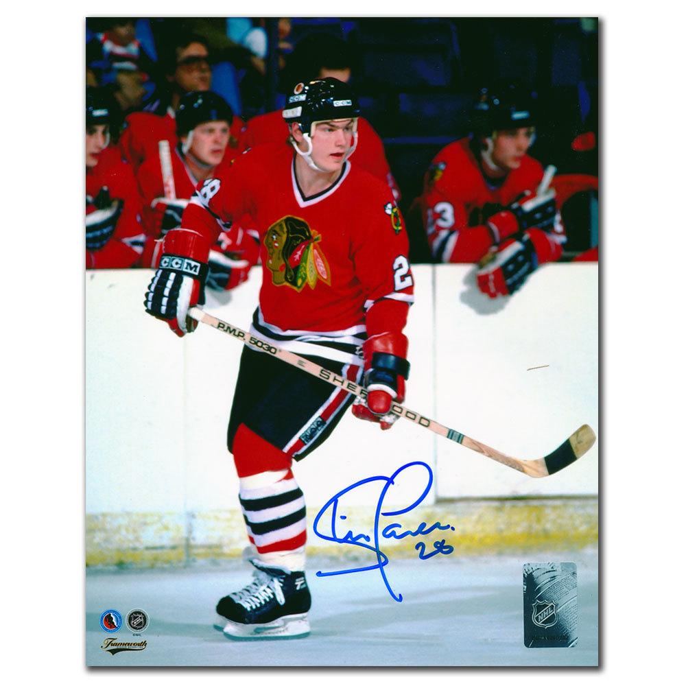 Steve Larmer Chicago Blackhawks Autographed 8x10