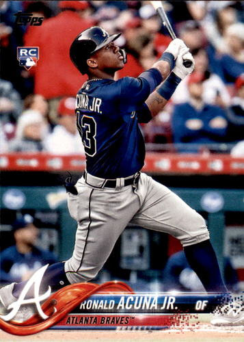 Photo of 2018 Topps Update #US250 Ronald Acuna Jr. Rookie Card