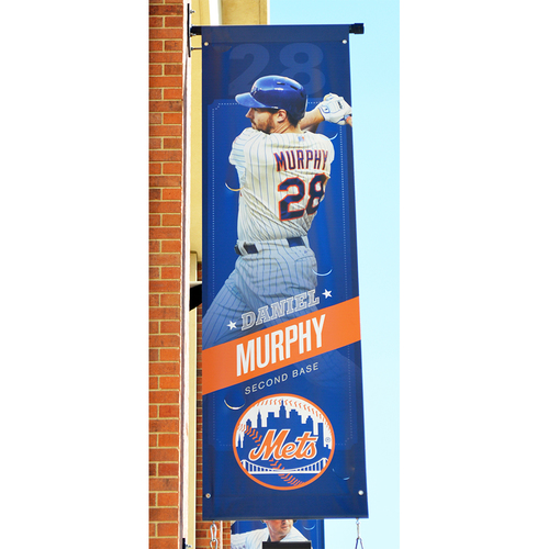 Photo of Daniel Murphy #28 - Citi Field Banner - 2015 Season
