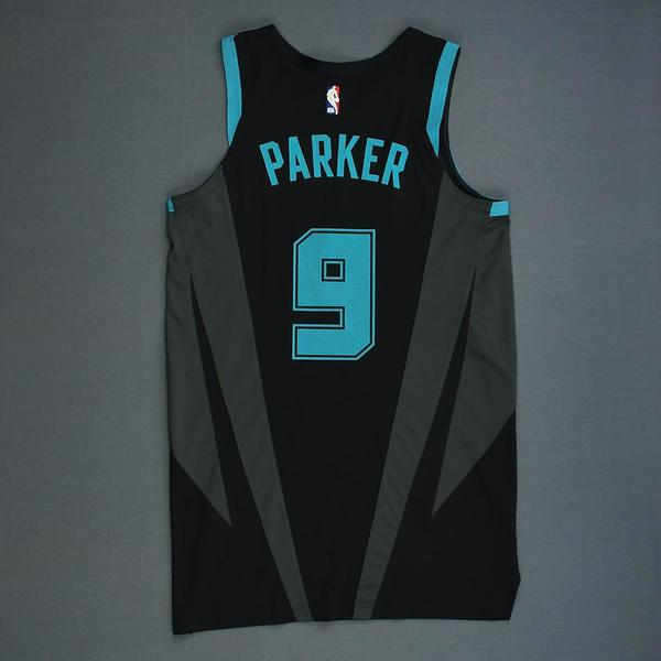 Tony Parker - Charlotte Hornets - Game-Worn City Edition Jersey ... f2ac71b50