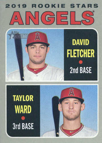 Photo of 2019 Topps Heritage #74 David Fletcher RC/Taylor Ward RC