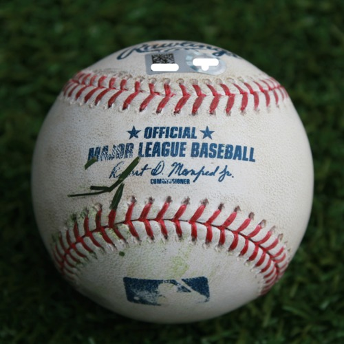 Photo of Game-Used Baseball: Ryon Healy 73rd Career Double (SEA @ KC - 4/11/19)
