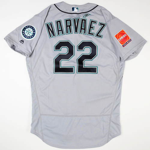 Photo of 2019 Japan Opening Day Series - Game Used Jersey - Omar Narvaez, Seattle Mariners at Oakland Athletics - 3/20/2019
