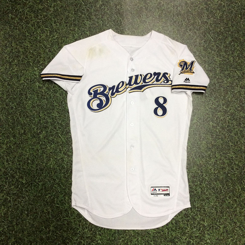 Photo of Ryan Braun 04/02/18 Game-Used Home Opener Jersey