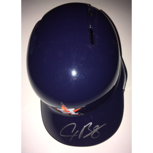 Photo of Alex Bregman Autographed Astros Helmet