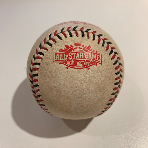 Photo of 2015 All Star Game - Game Used Baseball - Batter: Albert Pujols Pitcher: Zack Greinke - Top 1st Pitch - In The Dirt