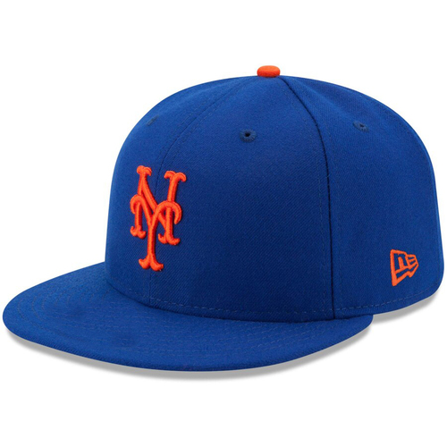 Photo of Dominic Smith #22 - Game Used Blue Hat - 1-1, 3 RBI, HR (8) - Mets vs. Braves - 9/27/2017