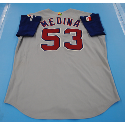 Photo of 2006 Inaugural World Baseball Classic: Ricardo Medina Game-worn Team Panama Road Jersey