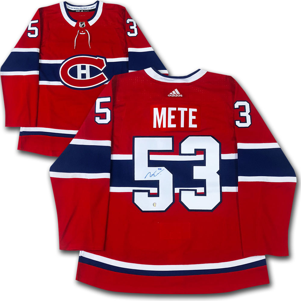 Victor Mete Autographed Montreal Canadiens adidas Pro Jersey