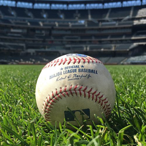 Photo of 2020 New York Mets Game-Used Baseball (August) - Choose your Game Date!