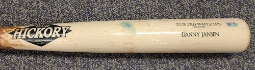 Photo of Authenticated Game Used Cracked Bat: Danny Jansen Grounds Out against Chris Sale (Jul 18, 2019 vs BOS). Top 2.