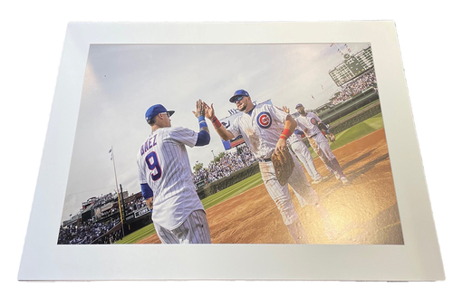 Photo of Clubhouse Photo -- Cubs Win -- Size 30 X 40 in.