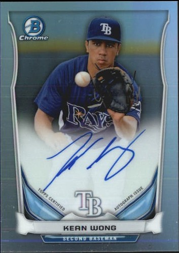 Photo of 2014 Bowman Chrome Prospect Autographs Refractors #BCAPKW Kean Wong