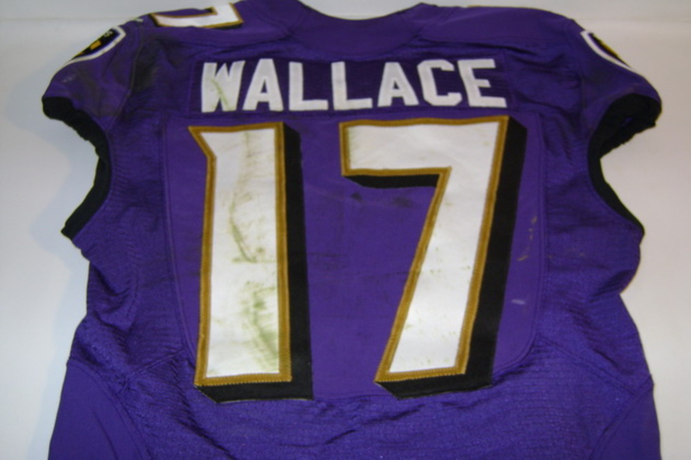 NFL Auction | BCA - Ravens Mike Wallace game worn Ravens jersey ...