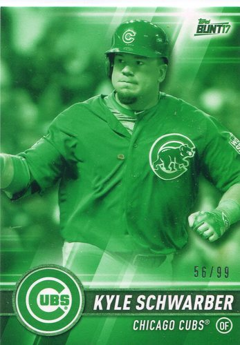 Photo of 2017 Topps Bunt Green #40 Kyle Schwarber  56/99