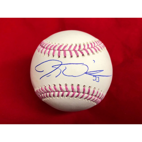 Photo of Jesse Winker -- Autographed Mother's Day Baseball