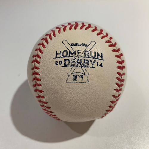 Photo of 2014 Home Run Derby - Game Used Baseball - Batter: Troy Tulowitzki -  Round 1 Out #6