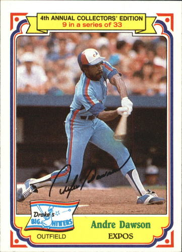 Photo of 1984 Drake's #9 Andre Dawson