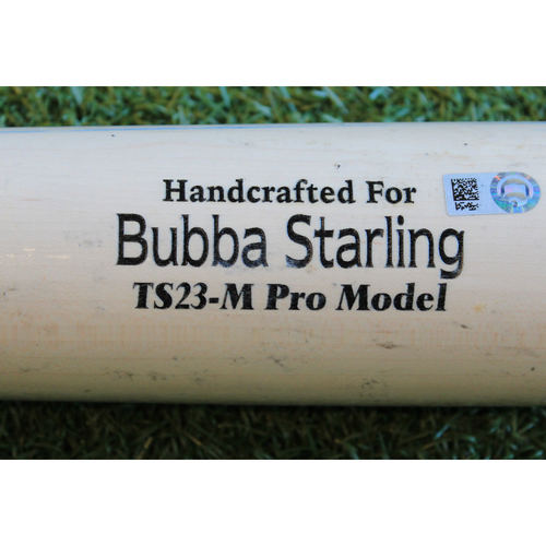 Photo of Game-Used Broken Bat: Bubba Starling Ground Out (KC @ MIA - 9/8/19)