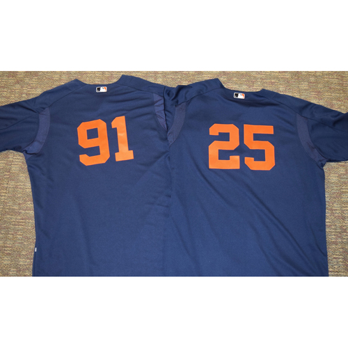 Detroit Tigers Road Batting Practice Jersey Collection (NOT MLB AUTHENTICATED)