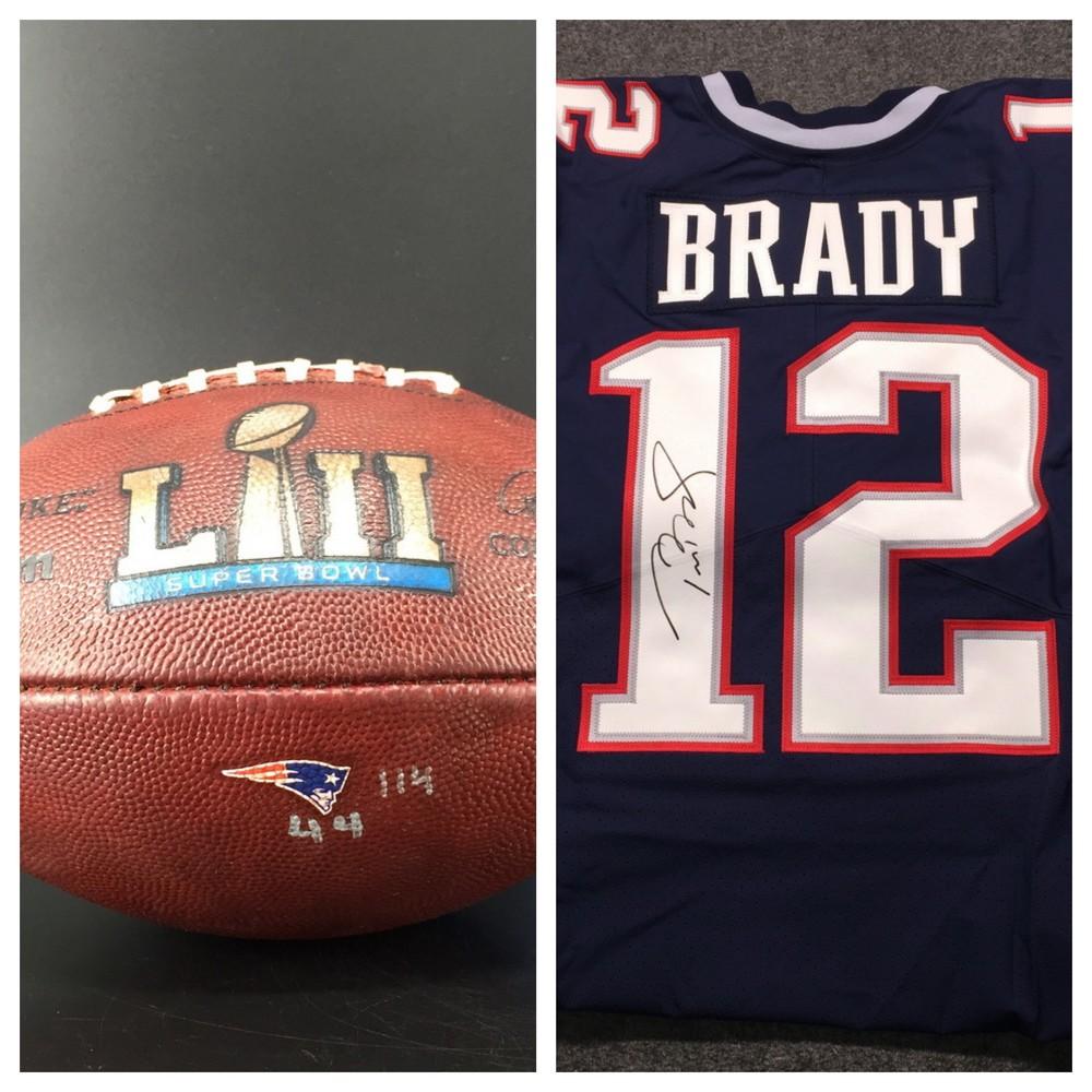 tom brady authentic autographed jersey