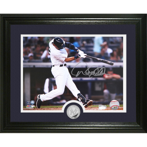 "Photo of Derek Jeter Autographed ""Sweet Swing"" Silver Coin Photo Mint"